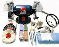200W Bench Grinder with Flexi Drive Shaft (Metal / Jewellery / Craft Polishing)