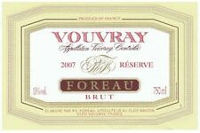 6 BOTTLES VOUVRAY  METHODE TRADITIONELLE  2010 CLOS NAUDIN FOUREAU