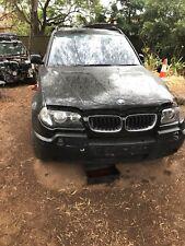BMW X3 2004  black 3.0L m54b30 wrecking engine transmission door headlight e83