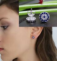 925 Silber ECHT Blaue Auge Ohrstecker Ohrringe Stecker Nazar Boncuk Evil Eye