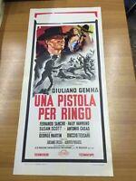 Locandina Cinema Originale 33x70 cm Western UNA PISTOLA PER RINGO Tessari 1965