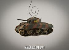 USA Sherman Tank M4 D-Day Utah Beach WWII Army USMC Christmas Ornament 1/72