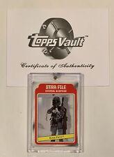 1980 Topps Star Wars BOBA FETT 1/1 Slick Stock Blank Back TOPPS VAULT BGS PSA