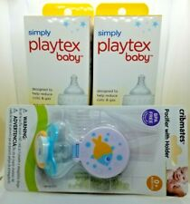 4-9oz Baby Bottles With 2 Pacifiers Simply Playtex