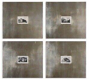 Uttermost 41295 Historical Buildings - 21.13 inch Framed Art (Set of 4) - 23.13
