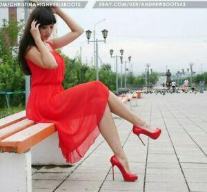 GIANMARCO LORENZI EU40 US9 peep toe platform stiletto patent leather pumps VIDEO
