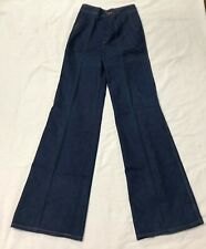 Vintage Denim Blue Jeans Pre-Owned Sisley Brand Waist Size 11/12 1970s (#3)