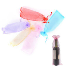 5Pcs Sheer Organza Wine Bottle Gift Bags Cover For Party Wedding Favor Random TA