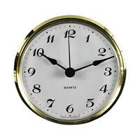 Uhrwerk Quartz Einbau-Uhr Ziffern arabisch Lünette gold Ø 103 mm Batterie inkl.