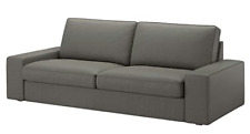 New IKEA KIVIK Sofa 3 Seat Cover Slipcover BORRED GRAY GREEN