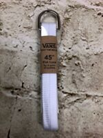 "Vans Off The Wall White Flat Lace Shoe Laces 45"" For 8 Eyelets 6 Pairs Of Laces"