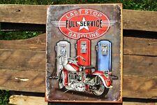 Dernière Stop Essence Boite Panneau Métallique - Harley-Davidson - Moto - Gas