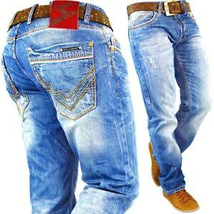 Cipo & Baxx Men's Jeans Mens Pants Leisure Trousers Clubwear Designer Biker