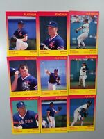 1991 Star Co. Platinum Baseball Roger Clemens 1/1000 9 Card Set Red Sox