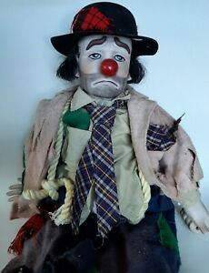 "1983 Vintage Dynasty Doll Weary Willie the Tramp Clown-Hobo Doll 22"" Tall"