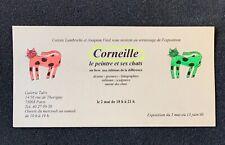 Carton d'invitation Guillaume Corneille Le Peintre et ses chats  15 Juin 1996