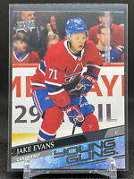 2020-21 UD Series 1 Young Guns #247 Jake Evans RC Montreal Canadiens