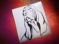 BASSET HOUND dog lover cool car window bumper vinyl sticker/decal