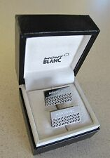MONTBLANC STAINLESS STEEL GRAPHIC SKELETON CUFFLINKS NEW BOX made GERMANY