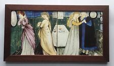 William Morris & Burne Jones belleza y la bestia Enmarcado 2 Tile Panel hecho a mano