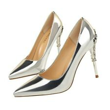 Womens Sexy Patent Leather High Heels Pumps Pointed Toe Shoes Party Nightclub