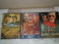 New listing Battle Of The Bulge, A Town Like Alice & Surviving The Game DVD's Rare OOP WWII