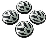 ALLOY WHEEL CENTRE CAPS SET FOR GOLF MK5 MK6 MK7 LUPO POLO 4X 65MM