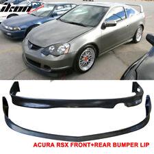 Fits 02-04 Acura RSX DC5 Poly-Urethane Front Bumper Lip+ Rear Bumper Lip