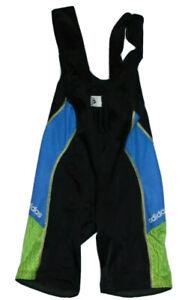 Lycra Adidas Black, Blue, Green Cycling Bib Shorts Size XL 8 NLV