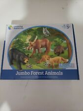 LEARNING RESOURCES JUMBO ANIMALS - FOREST ANIMALS /Complete OPEN BOX