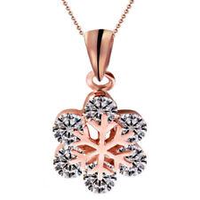 Damen Halskette Schmuck Collier mit Diamant Anhänger Gold Weihnachten Geschenk