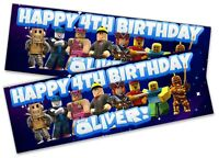 x2 Personalised Birthday Banner Roblox Children Kids Party Decoration Poster 11