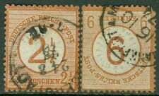 GERMANY : 1874. Scott #27-28 Used. Good cancels. Catalog $490.00.