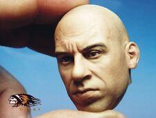 Custom Vin Diesel 1/6 Head Sculpt for Hot Toys Muscular Body