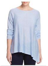 Eileen FISHER 1X Morning Glory Blue Draped Asymmetrical Bateau Neck Sweater NWT