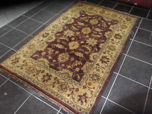 TAJ AGRA, 8' x 5', BRAND NEW, LARGE, HAND-KNOTTED, RUG, THICK, WOOL...FREE DEL.