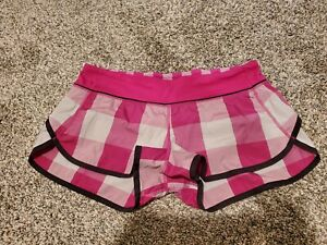 Lululemon Speed Shorts Gros Gingham Raspberry 8