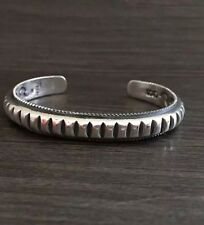 Hallmarked Solid 925 Sterling Silver Open Torque Bangle  Cog