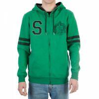 Harry Potter Slytherin Men's Green Zip Hoodie Sweater