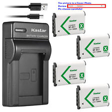 Kastar Battery Slim Charger for Sony NP-BX1 Cyber-shot DSC-RX100M6 (RX100 VI)