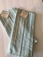 Kitchen Chef Designer Collection Extra Large Tea Towels Teal White Nwt