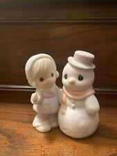 Precious Moments Sugar Town- girl and Snowman