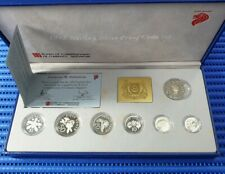 1992 Singapore Sterling Silver Proof Coin Set (1¢ - $5 Coin)