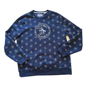 Original PENGUIN Cable Knit Jumper Mens Crew-Neck M XL or XXL Sweater BNWT R£85