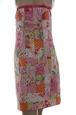Lilly Pulitzer Cotton Strapless Dress Patchwork Florals Lace Stripes Sz 2
