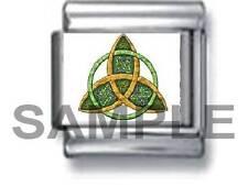 IRISH TRINITY LOVE KNOT 9MM ITALIAN CHARM LINK celtic infinity forever