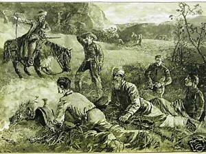 FREDERIC REMINGTON COWBOYS OF ARIZONA 1882 Print Matted