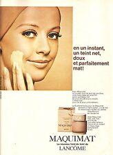 PUBLICITE ADVERTISING 034 1967 LANCOME fond de teint                      310314