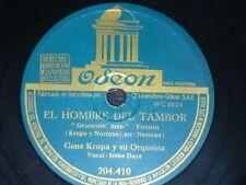 JAZZ 78 rpm RECORD Odeon GENE KRUPA El Hombre del Tambor / Tuxedo Junction