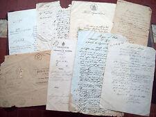 1881 LOTTO DI 9 DOCUMENTI MANOSCRITTI DI/SU BAGNARA DI ROMAGNA